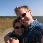 Alice and Steve on their Hawaiian honeymoon.
