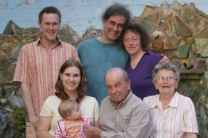 Visiting Alice's family on their Germany trip in 2010.